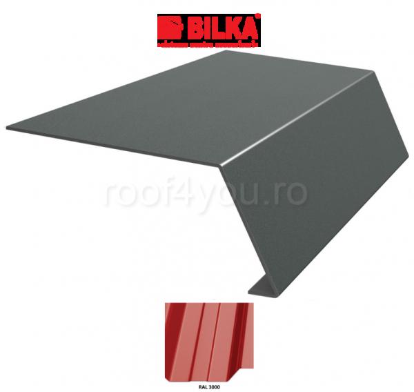 Bordura streasina industriala BILKA Lucios 0,5 mm / 156 mm / RAL 3000 0