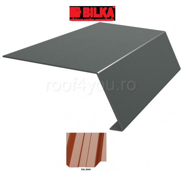 Bordura streasina industriala BILKA Lucios 0,5 mm / 156 mm / RAL 8004 0