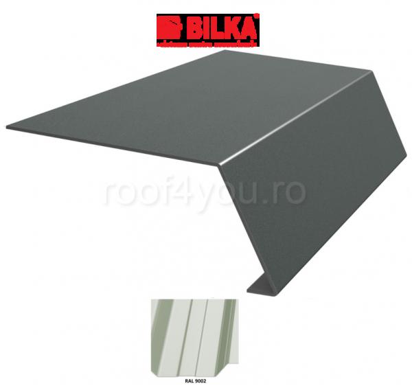 Bordura streasina industriala BILKA Lucios 0,7 mm / 156 mm / RAL 9002 0