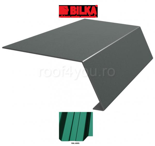 Bordura streasina industriala BILKA Lucios 0,5 mm / 178 mm / RAL 6005 0