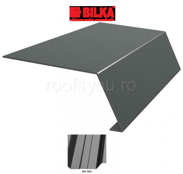 Bordura streasina industriala BILKA Lucios 0,5 mm / 250 mm / RAL 7024 0
