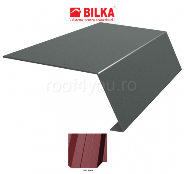 Bordura streasina industriala BILKA Mat 0,6 mm / 156 mm / RAL 3005 0