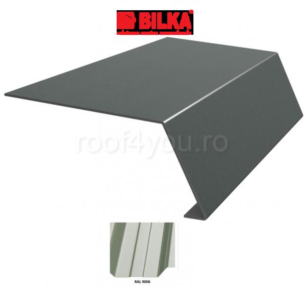 Bordura streasina industriala BILKA Lucios 0,7 mm / 208 mm / RAL 9006 0