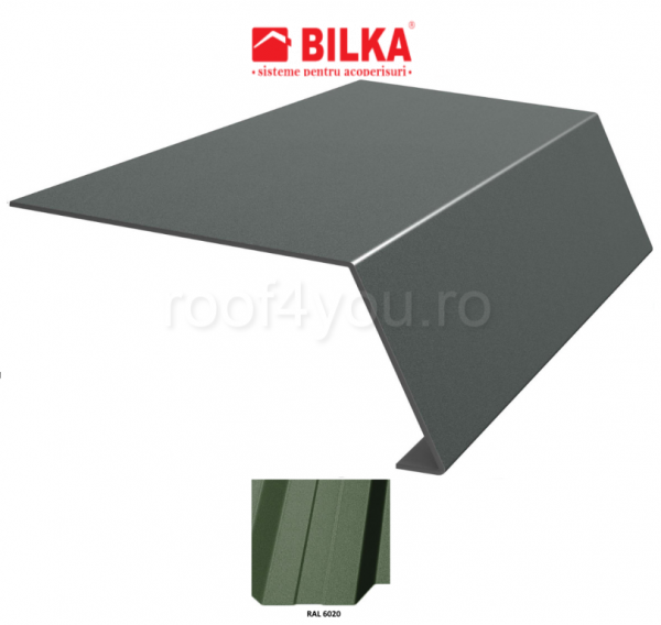 Bordura streasina industriala BILKA Mat 0,5 mm / 178 mm / RAL 6020 0