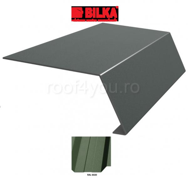 Bordura streasina industriala BILKA Mat 0,5 mm / 208 mm / RAL 6020 0