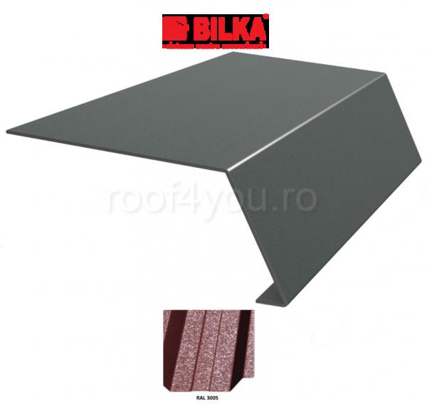 Bordura streasina industriala BILKA Grande Mat 0,5 mm / 208 mm / RAL 3005 0