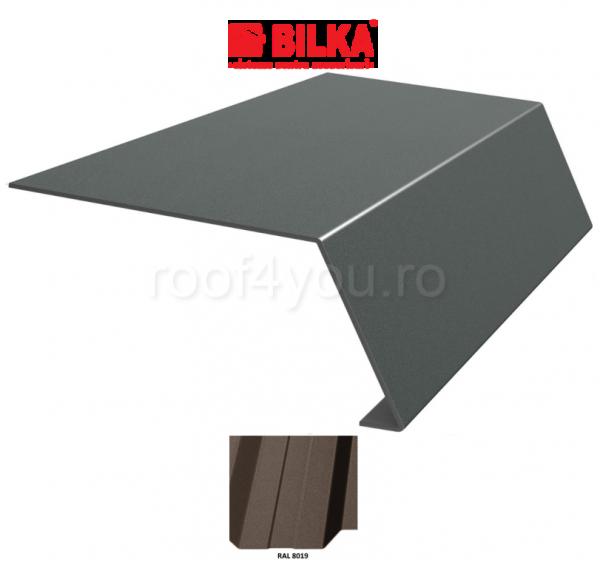Bordura streasina industriala BILKA Mat 0,6 mm / 156 mm / RAL 8019 0