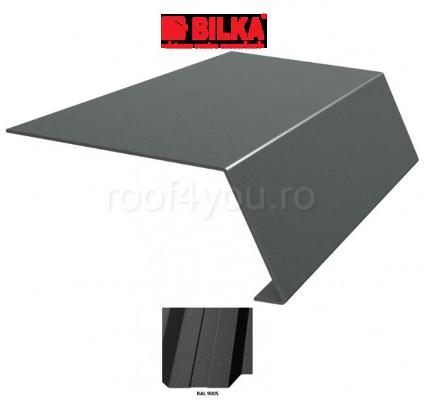 Bordura streasina industriala BILKA Mat 0,6 mm / 208 mm / RAL 9005 0