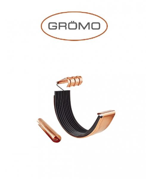Element imbinare jgheab cu garnitura si ranforsare semicircular 333 , Cupru Gromo 0