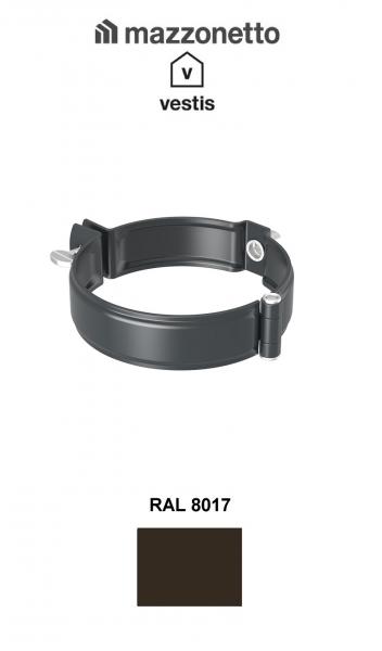 Bratara burlan semicircular Ø100, Aluminiu Mazzonetto Vestis, RAL 8017 1