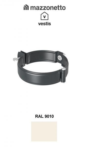 Bratara burlan semicircular Ø100, Aluminiu Mazzonetto Vestis, RAL 9010 [0]