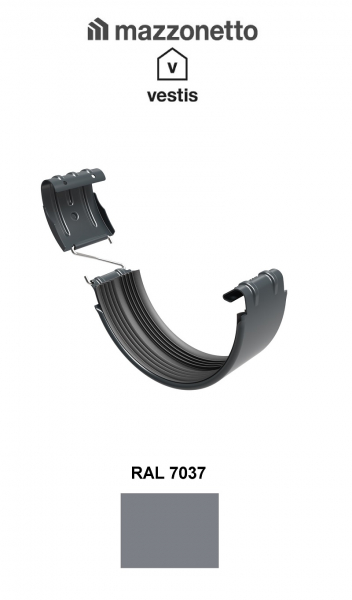 Bratara jgheab Ø150, Aluminiu Mazzonetto Vestis, RAL 7037 [0]