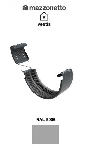 Bratara jgheab Ø150, Aluminiu Mazzonetto Vestis, RAL 9006 [1]