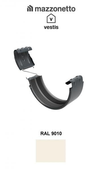 Bratara jgheab Ø150, Aluminiu Mazzonetto Vestis, RAL 9010 0
