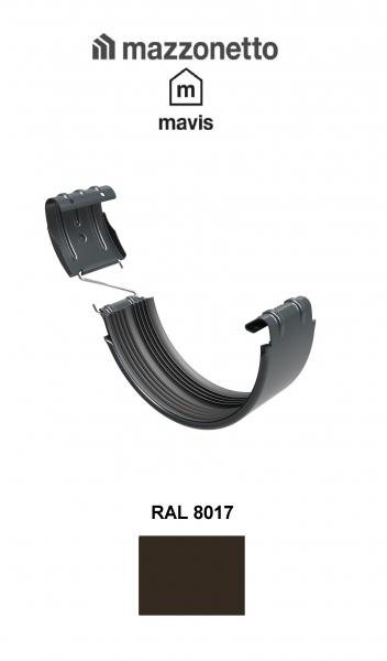 Bratara jgheab semicircular Ø150, Burlan Ø100, Otel Mazzonetto Mavis, RAL 8017 0