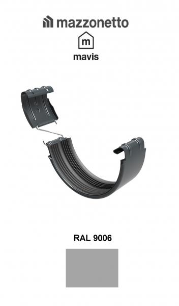 Bratara jgheab semicircular jgheab Ø150, Burlan Ø100, Otel Mazzonetto Mavis, RAL 9006 0
