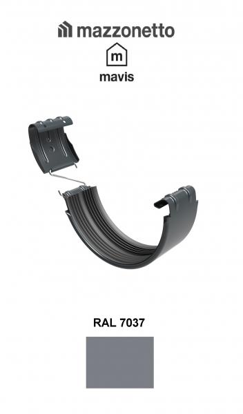 Bratara jgheab semicircular jgheab Ø150, Burlan Ø100, Otel Mazzonetto Mavis, RAL 7037 [0]