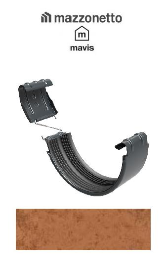 Bratara jgheab semicircular jgheab Ø150, Burlan Ø100, Otel Mazzonetto Mavis, RAL Copper 2