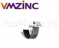 Bratara titan zinc natural pentru imbinare jgheab Ø125 [0]