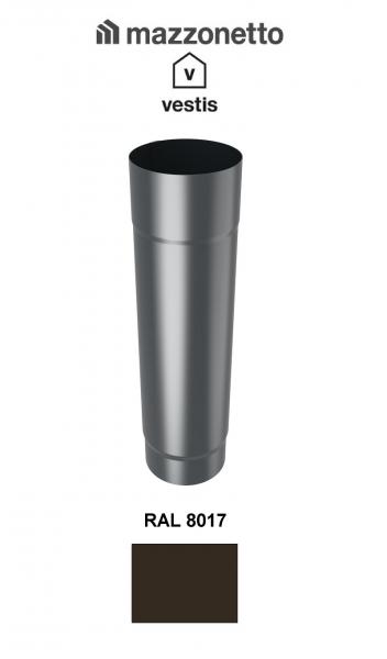 Burlan rotund Ø100 ( 2-3 m), Aluminiu Mazzonetto Vestis, RAL 8017 0