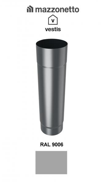 Burlan rotund Ø100 ( 2-3-m), Aluminiu Mazzonetto Vestis, RAL 9006 [0]