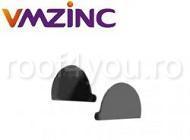 Capac jgheab Ø125 titan zinc natural Vmzinc 1