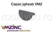 Capac jgheab Ø150 titan zinc natural Vmzinc 1