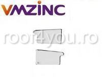 Capac jgheab rectangular dreapta 250mm titan zinc natural Vmzinc [0]