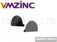Capac jgheab semicircular Ø150 titan zinc Qaurtz Vmzinc 0