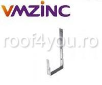 Carlig jgheab rectangular 333mm titan zinc natural Vmzinc 1