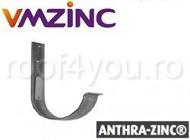Carlig jgheab semicircular Ø190 titan zinc Anthra Vmzinc 1