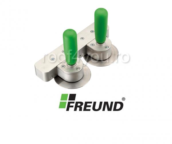 Dispozitiv pentru taierea si indoirea placilor de metal , Freund 0