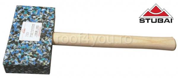 Ciocan cu cap din plastic, rectangular, colorat, 155x85x35 0