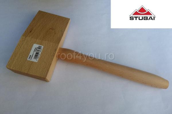 Ciocan din lemn, in forma de pana, 170x90x50 0