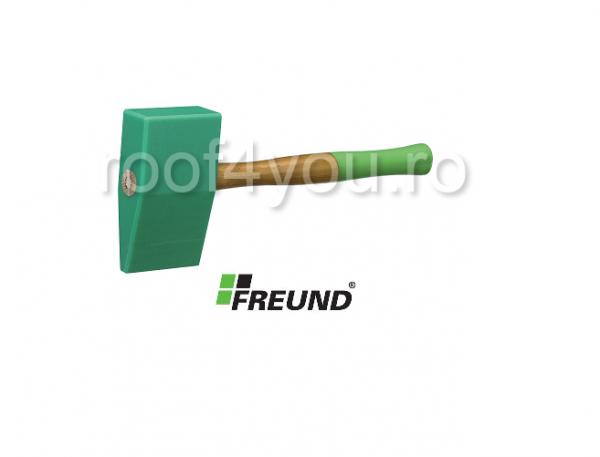 Ciocan din PVC Tinman's cu maner de lemn Hickory, 85x40x150 mm, Freund 0