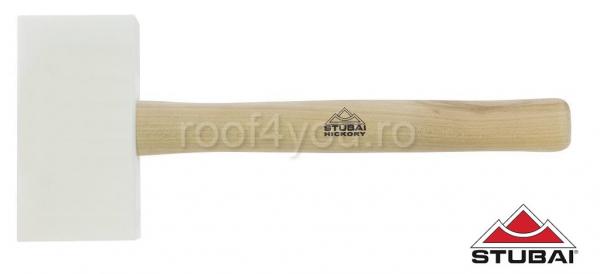 Ciocan din plastic, mâner Hickory, rectangular,155x85x35 0