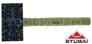 Ciocan din plastic, mâner Hickory, rectangular, colorat, 155x85x35 0