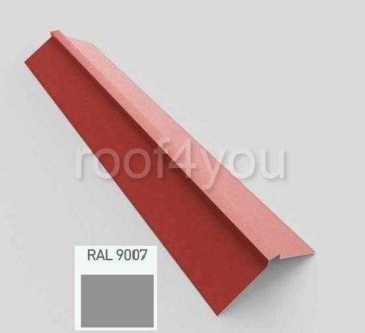 Coamă dreaptă mare CDMA, Lucios WETTERBEST, grosime 0.35 mm, RAL 9007 0