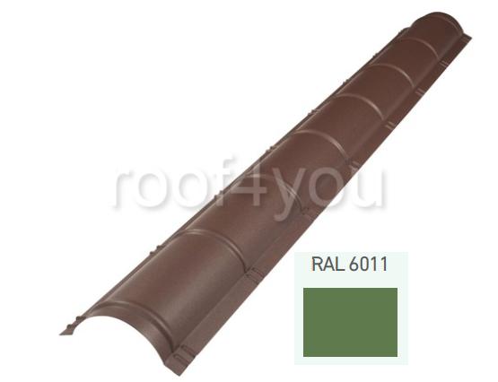 Coamă rotundă mare CRMA, Lucios WETTERBEST, grosime 0.35 mm, RAL 6011 0