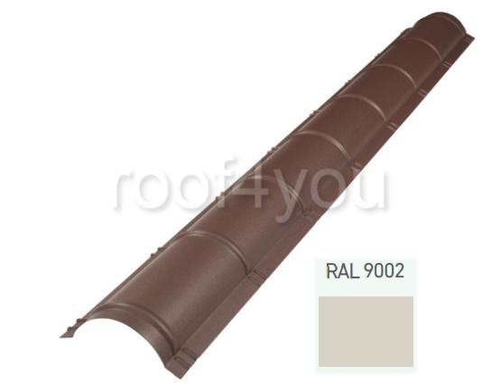 Coamă rotundă mare CRMA, Lucios WETTERBEST, grosime 0.35 mm, RAL 9002 0