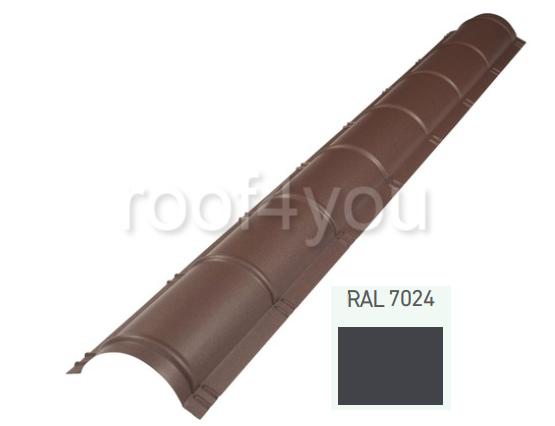 Coamă rotundă mare CRMA, Suprem 50 WETTERBEST, grosime 0.5 mm, RAL 7024 0