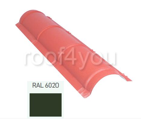 Coamă rotundă mică CR, Mat WETTERBEST, grosime 0.5 mm, RAL 6020 0