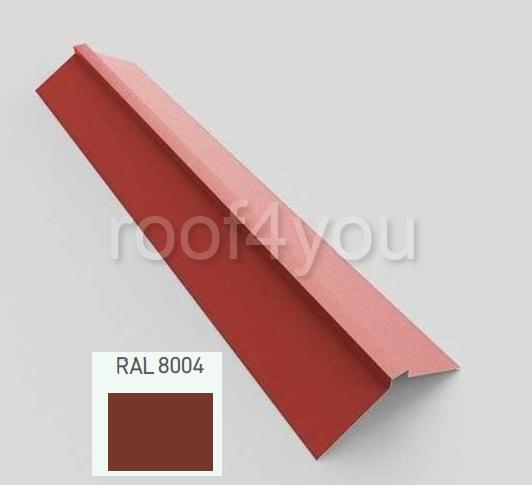 Coamă dreaptă mare CDMA, Lucios WETTERBEST, grosime 0.45 mm, RAL 8004 0