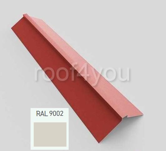 Coamă dreaptă mare CDMA, Lucios WETTERBEST, grosime 0.4 mm, RAL 9002 0
