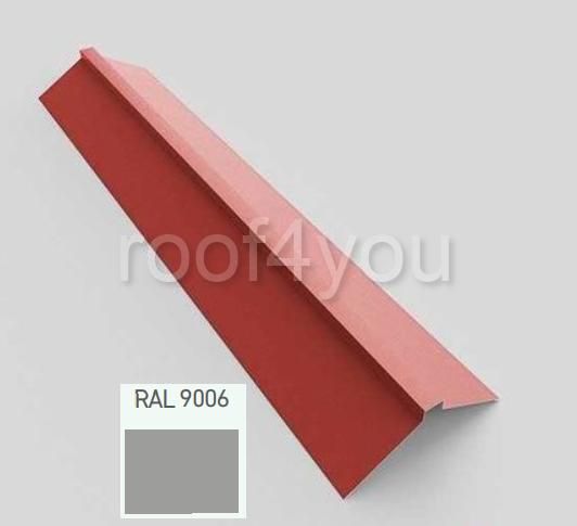 Coamă dreaptă mare CDMA, Lucios WETTERBEST, grosime 0.45 mm, RAL 9006 0