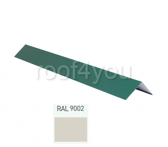 Coamă dreaptă mică CDMI, Lucios WETTERBEST, grosime 0.5 mm, RAL 9002 0