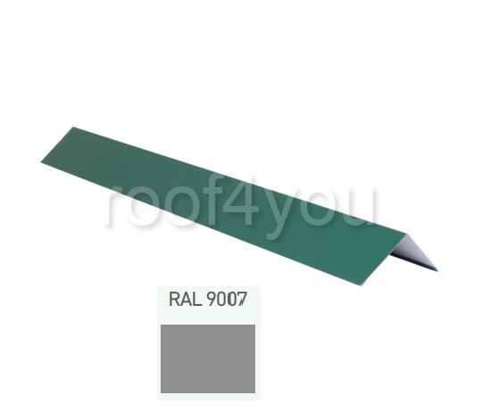 Coamă dreaptă mică CDMI, Lucios WETTERBEST, grosime 0.5 mm, RAL 9007 0