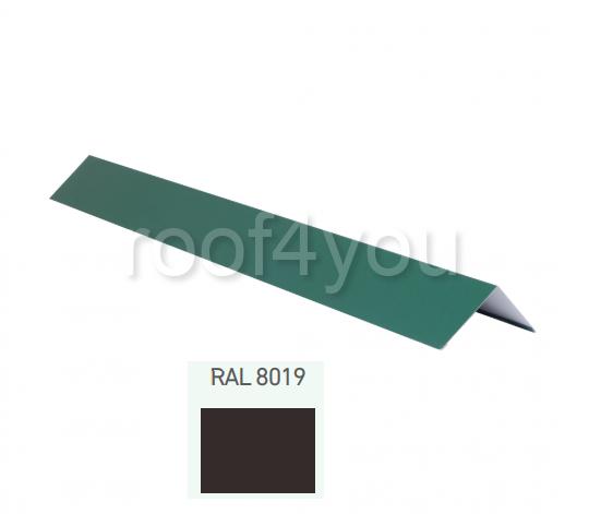 Coamă dreaptă mică CDMI, Mat WETTERBEST, grosime 0.5 mm, RAL 8019 0