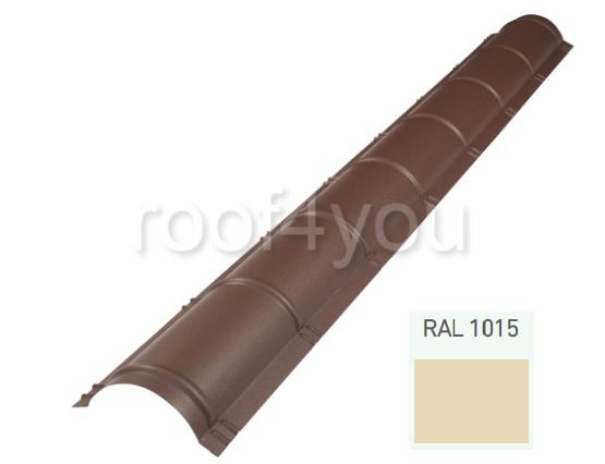 Coamă rotundă mare CRMA, Lucios WETTERBEST, grosime 0.35 mm, RAL 1015 0