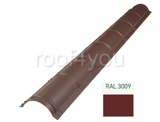 Coamă rotundă mare CRMA, Lucios WETTERBEST, grosime 0.5 mm, RAL 3009 0